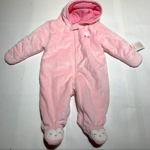 Carters Girls Super Soft Full Zip Snowsuit